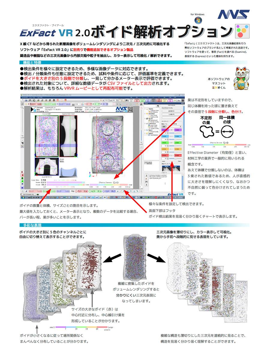 カタログ ExFact VR ボイド解析オプション