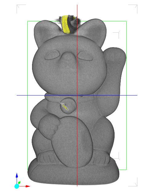 招き猫 X線CT画像 クリップ/横回転