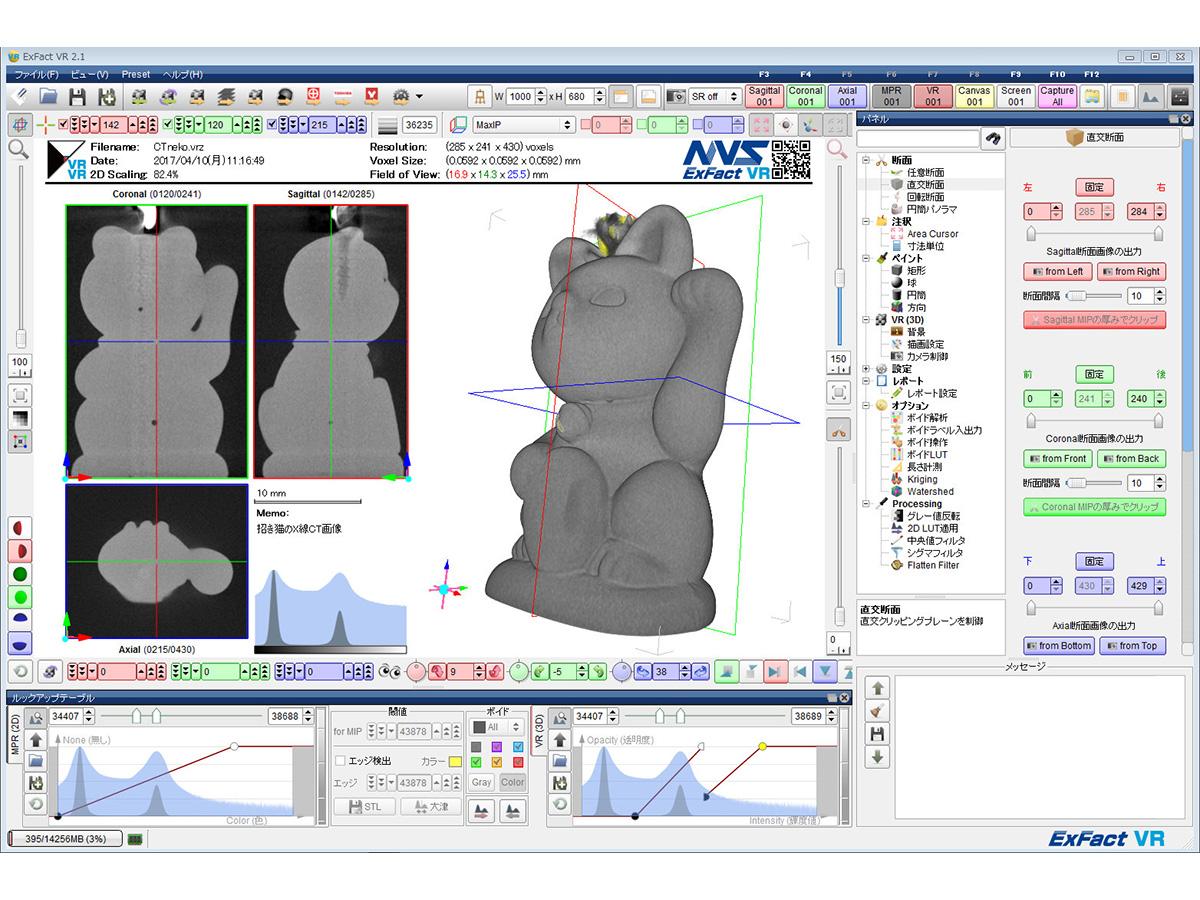 断層画像(X線CT/FIB SEM等)の3D化ソフト「ExFact VR」