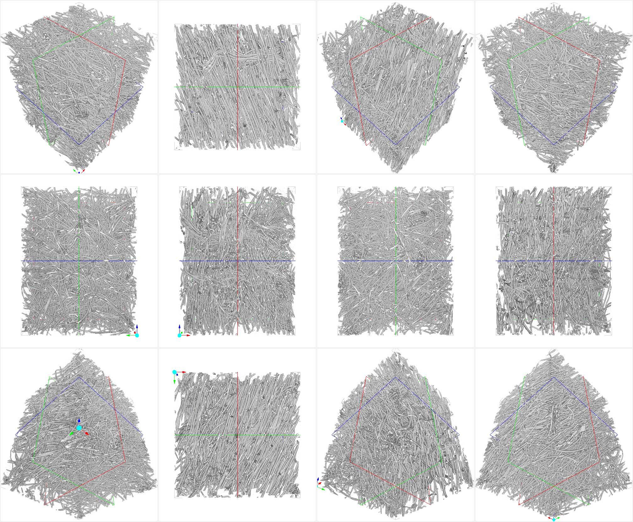 繊維の複雑構造を3D化
