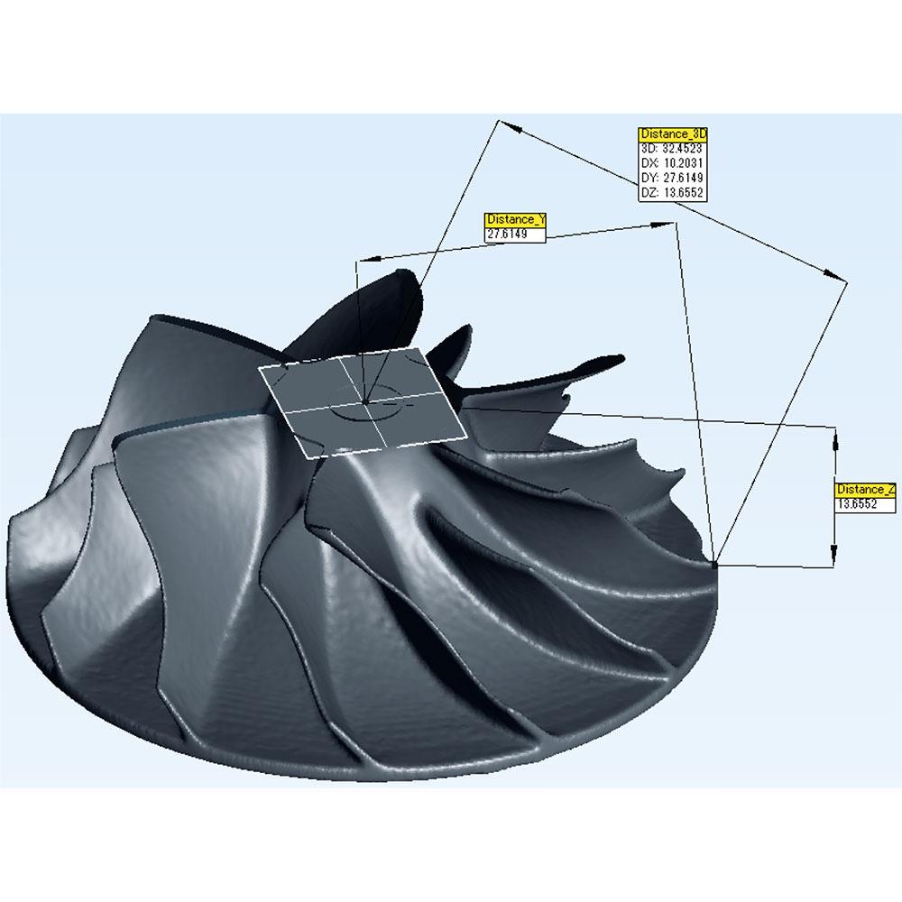 リバースエンジニアリング タービンブレード(形状比較/三次元計測/内部欠陥/肉厚計測)