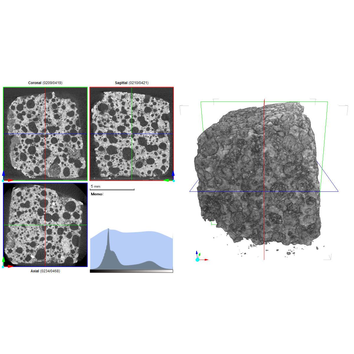 3D画像解析/画像処理/三次元化 多孔体/多孔質材料