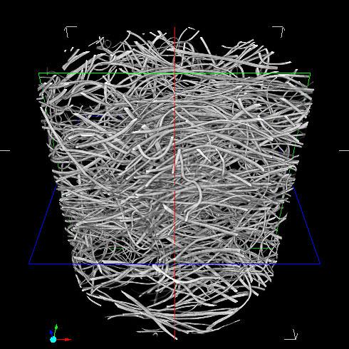 3D画像解析/画像処理/三次元化 繊維